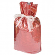 Gift Mate 21088-4 4-Piece Drawstring Gift Bags, Large, Diamond Red