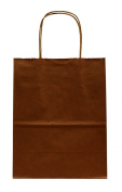 Premier Packaging AMZ-230145 15 Count Metallic Kraft Shopping Bag, 21cm by 27cm , Copper