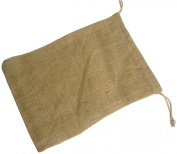 Burlap Drawstring Bag 25cm x 36cm Natural 12 Pcs.