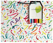 Jillson Roberts Giant Gift Bag, Confetti and Streamers, 6-Count