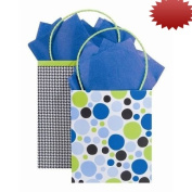 The Gift Wrap Company Polka Panache Krafty Printed Tote Combo, 12 Count