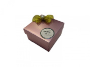 Megashopping Golden Polyester Bowknot Pink Décor Favour Gift Boxes Sold Individually