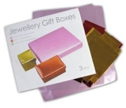 Foil Covered Cardboard Gift Boxes with Embossed Leaf Pattern