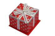 MegaShopping White Bowknot Red Cover Grey Dot Favour Wedding Valentine Gift Boxes Sold Individually