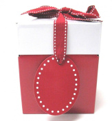 Boston International Progress Luv2pak Eco Giftalicious Pop-Up Gift Box with Ribbon and Tag, Ruby Red, 12cm ,10 Count