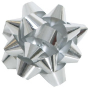 Tiny Bow in Silver - 5.1cm Diameter - sold individually