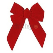 5 Loop RED Velvet Bow