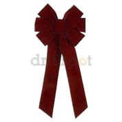 HOLIDAY TRIM 6577 7 Loop Velvet Bow for Decoration, Burgundy