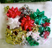 Hollywood Ribbon Holiday Designer Bows,50x Assorted,peel & Stick