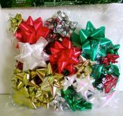 Hollywood Ribbon Holiday Designer Bows,50x Assorted,peel & Stick