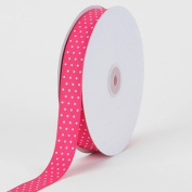 Fuchsia with White Dots Grosgrain Ribbon Swiss Dot 2.2cm 50 Yards