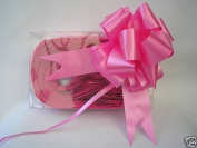 5 x 37mm Cerise Florist Craft Pull Bows. Plus 10m of Cerise Curling Ribbon. F...