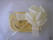5 x 37mm Cream Florist Craft Pull Bows. Plus 10m of Cream Curling Ribbon. Flo...