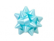 Baby Blue 6.4cm Poly Star Gift Bows -100 Per Package.