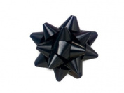 Black 6.4cm Poly Star Gift Bows -100 Per Package.