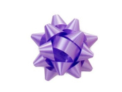 Lavender 6.4cm Poly Star Gift Bows -100 Per Package.