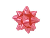 Raspberry 6.4cm Poly Star Gift Bows -100 Per Package.