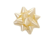 Vanilla 6.4cm Poly Star Gift Bows -100 Per Package.