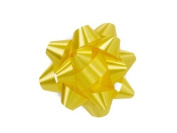 Yellow 6.4cm Poly Star Gift Bows -100 Per Package.