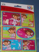 Dora the Explorer Self Stick Christmas Gift Tags