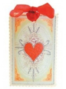 Papaya Art Love Letters Heart Tag with Glittered Embellishment