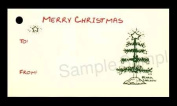 (15 Tags) TABLE TOP CHRISTMAS TREE GIFT TAGS & STRINGS. TO