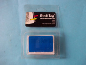 Redi-Tag RT04 Removable Indicator Tags 300 Tags Each Strip Contains 10 Tags Blue 1.1cm x 3.8cm