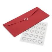 Gartner Studios 78557 Rhinestone Heart Seals, 20ct