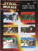 Star Wars Episode 1 Foil Leaf Gift Tags 30 Pcs.