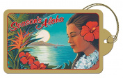 Aloha Moonrise by Kerne Erickson - Set of 8 Hawaiian Art Luggage Style Deluxe Christmas Gift Tags