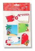 Island Style Christmas 3D Adhesive Holiday Gift Tags