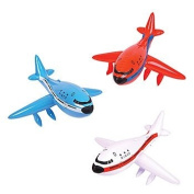 3 JUMBO 80cm Inflatable aeroplanes/Jet/747/INFLATES/Birthday PARTY DECORATIONS Favours/Decor/RED, White, Blue/NEW in Package PLANE/TOYS