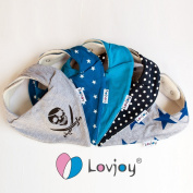 Lovjoy Bandana Bibs - Pack of 5 Boy Designs