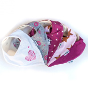 Lovjoy Bandana Bibs - Pack of 5 Girl Designs