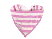 Silly Billyz 17556 Teething Bib Organic Cotton for Age 0 to 24 Months Raspberry / Plain Stripes