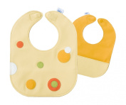 Mod Dots Citrus Baby Leather Bib