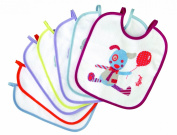 Tigex - Set of 7 Towelled and EVA Bibs, Assorted