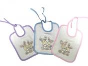 3 Bibs Gift set - Les Bébés d'Elyséa - 2 Rabbits
