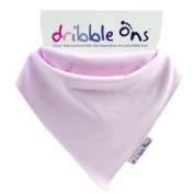 X 3 Dribble Ons Bandana Bibs - Baby Pink