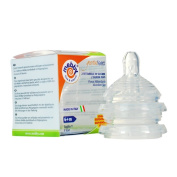 Mebby Gentlefeed Teats for Polypropylene Baby Feeding Anti-Colic Bottle for 6 Months and Above