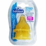 Bébisol 2 Round Tip Silicone Teats 0-36M
