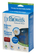 Dr Brown's Natural Flow 240ml Twin Pack Wide Neck Bottles