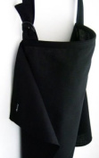 "Breastfeeding Cover by AGNESstyle BLACK -106cm x 69cm -42""x 27"",pocket for Nursing Pad, zipped bag"