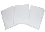 Muslinz Premium Muslin Squares 100% Cotton Supersoft High Quality x 7.6cm WHITE