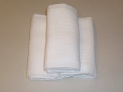 Bee Bo pack of 3 100% Cotton Muslin Squares - White