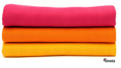 divata Coloured Cotton Muslins Girls 80x80 cm - Pack of 3
