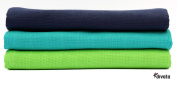 divata Colourful Cotton Muslins Boys 80x80 cm - Pack of 3