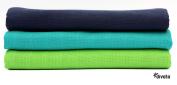 divata Colourful Cotton Muslins Boys 80x80 cm - Pack of 3