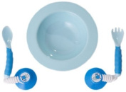 Ezee Reach Stay Put Cutlery & Bowl Blue