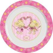 p:os Lillebi 66036 Children's Soup Bowl with Prince and Princess Theme Melamine